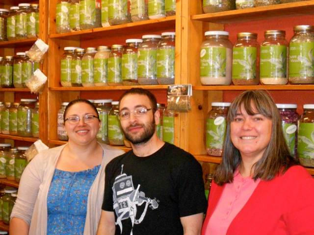 Jessica is the Manager, Jessie is an Employee and a student in Chinese Acupuncture, and Cristy is the Owner of the Herb Store