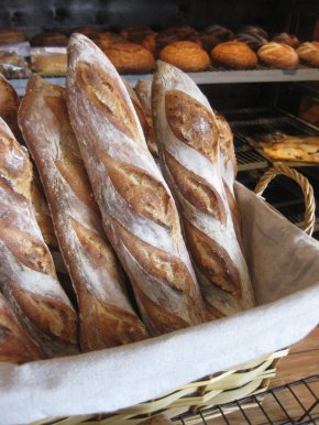 Baguettes at Bosque Baking Company photo by Kenneth Chavez