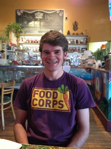 Tyler Wilson, FoodCorps Service member. Photo by author