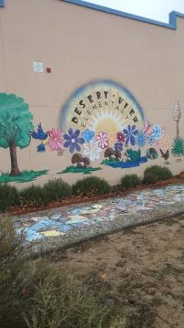 Mural in garden space, photo taken by Divana Olivas