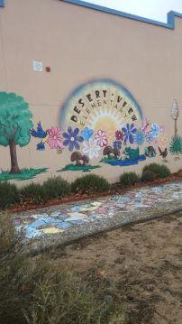 Mural in garden space, photo taken by Divana Olivas