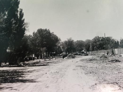View of original junkyard - photo by Jeffrey Finer