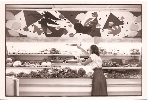 Michelle Franklin stocking produce - Photo courtesy of Cirrelda Snider-Bryan