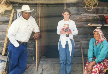 Me, about 12 years old, in the Copper Canyon near Creel, Chihuahua, with a Tarahumara couple. From a very young age I was fascinated with the diversity of peoples and cultures